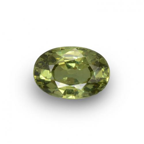 0.7ct Oval Facet Golden Green Demantoid Garnet Gem (ID: 272944)