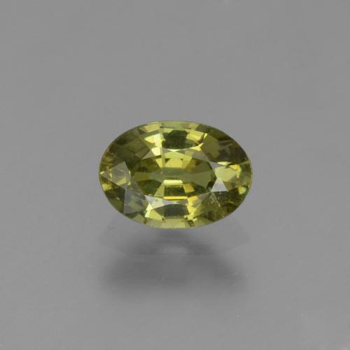 Golden Green Demantoid Garnet Gem - 0.6ct Oval Facet (ID: 272945)