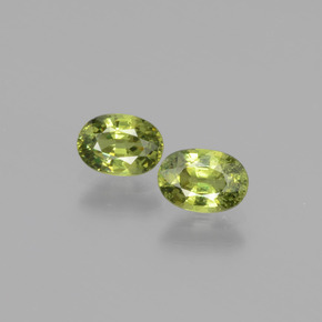 gold-grün Demantoid-Granat Edelstein - 0.6ct Oval facettiert (ID: 276484)