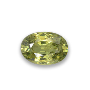 Light Forest Green Granato demantoide Gem - 0.5ct Ovale sfaccettato (ID: 276493)