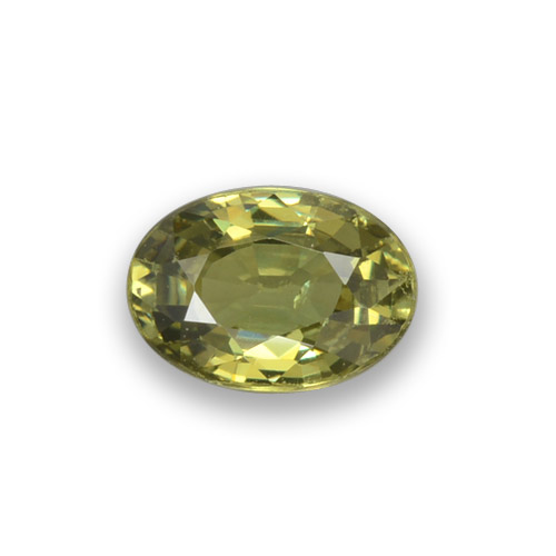0.6ct Oval Facet Golden Green Demantoid Garnet Gem (ID: 276499)