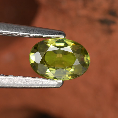 0.6ct Oval Facet Light Forest Green Demantoid Garnet Gem (ID: 276517)