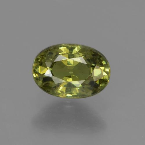 Warm Green Demantoid Garnet Gem - 0.6ct Oval Facet (ID: 276518)