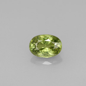 Buy 0.67 ct Golden Green Demantoid Garnet 5.89 mm x 4.2 mm from GemSelect (Product ID: 278079)