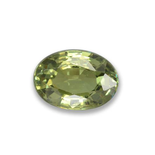 Medium Green  Demantoid Garnet Gem - 0.7ct Oval Facet (ID: 278678)