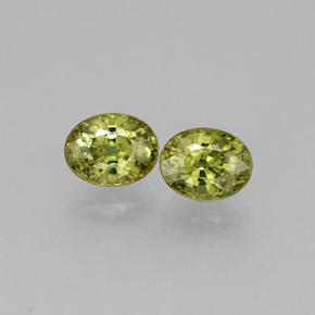 Golden Green Demantoid Garnet Gem - 0.4ct Oval Facet (ID: 284163)