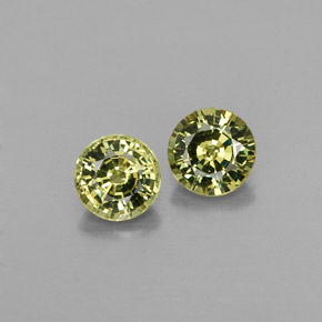 Buy 0.85 ct Greenish Golden Demantoid Garnet 4.37 mm  from GemSelect (Product ID: 322085)