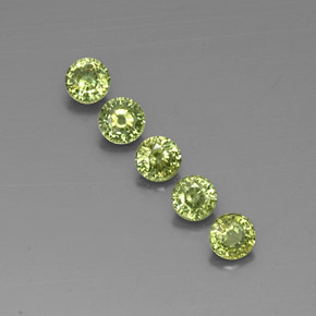 Green Demantoid Garnet Gem - 0.3ct Round Facet (ID: 322107)