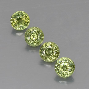 Buy 1.83 ct Golden Green Demantoid Garnet 4.37 mm  from GemSelect (Product ID: 322245)