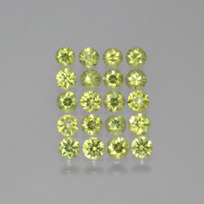 Golden Green Demantoid Garnet Gem - 0.1ct Diamond-Cut (ID: 385145)