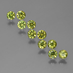 Golden Green Demantoid Garnet Gem - 0.2ct Diamond-Cut (ID: 385236)