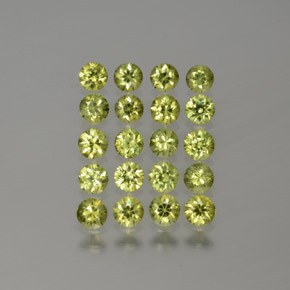 Golden Green Demantoid Garnet Gem - 0.1ct Diamond-Cut (ID: 385393)