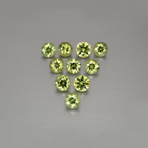 Golden Green Demantoid Garnet Gem - 0.2ct Diamond-Cut (ID: 385592)