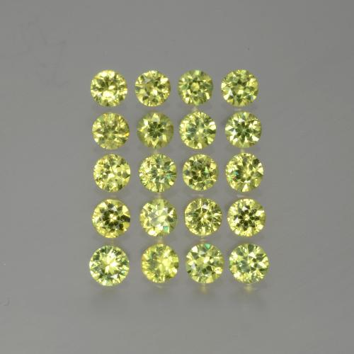 0.1ct Diamond-Cut Golden Green Demantoid Garnet Gem (ID: 385639)