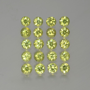 0.16 ct Diamond-Cut Golden Green Demantoid Garnet Gemstone 3.21 mm  (Product ID: 385642)