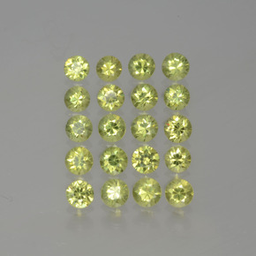 Golden Green Demantoid Garnet Gem - 0.1ct Diamond-Cut (ID: 385644)