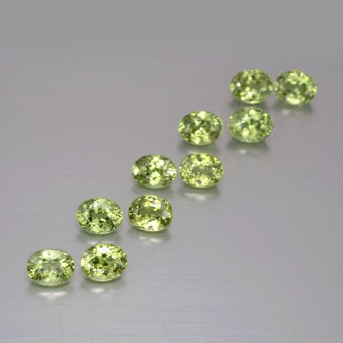 Golden Green Demantoid Garnet Gem - 0.3ct Oval Facet (ID: 387509)