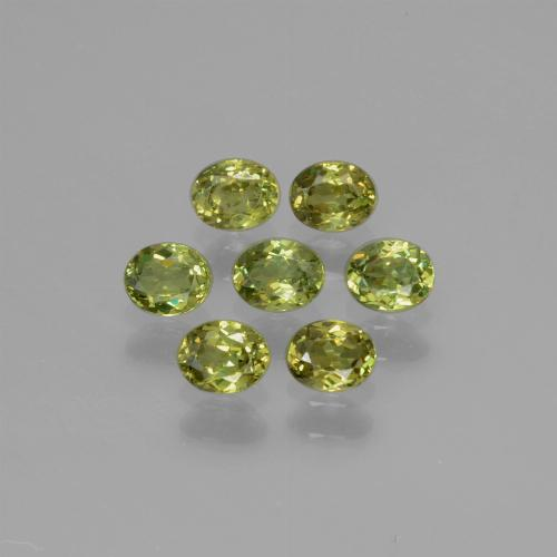 Golden Green Demantoid Garnet Gem - 0.2ct Oval Facet (ID: 387790)