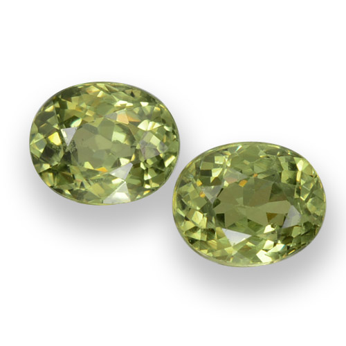 0.5ct Oval Facet Golden Green Demantoid Garnet Gem (ID: 458148)