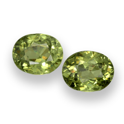 thumb image of 0.9ct Oval Facet Golden Green Demantoid Garnet (ID: 458152)