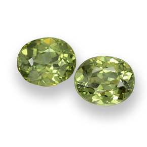 0.5ct Oval Facet Golden Green Demantoid Garnet Gem (ID: 458153)