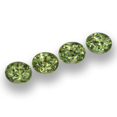 Golden Green Demantoid Garnet Gem - 0.4ct Oval Facet (ID: 458243)