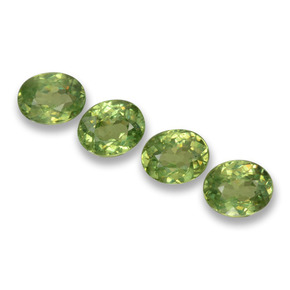 Forest Green Demantoid Garnet Gem - 0.3ct Oval Facet (ID: 458282)