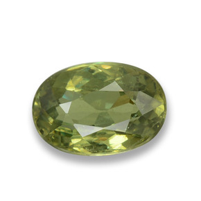 Buy 0.69 ct Golden Green Demantoid Garnet 6.03 mm x 4.2 mm from GemSelect (Product ID: 458308)
