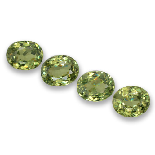 Medium Green Demantoid Garnet Gem - 0.4ct Oval Facet (ID: 458341)