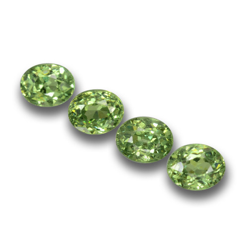 Golden Green Demantoid Garnet Gem - 0.3ct Oval Facet (ID: 458409)