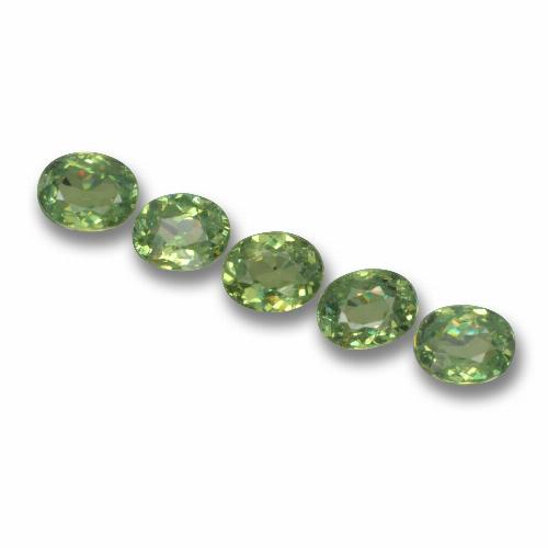 Golden Green Demantoid Garnet Gem - 0.3ct Oval Facet (ID: 458480)