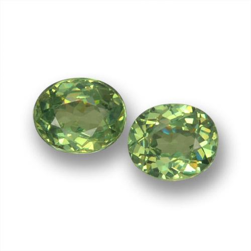 Warm Green Demantoid Garnet Gem - 0.4ct Oval Facet (ID: 458544)
