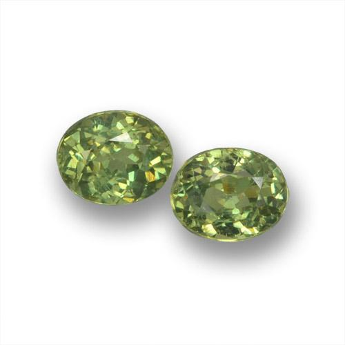 Golden Green Demantoid Garnet Gem - 0.4ct Oval Facet (ID: 458545)