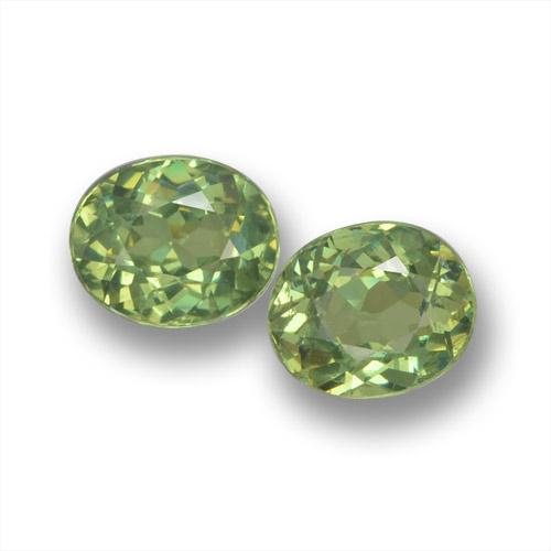 gold-grün Demantoid-Granat Edelstein - 0.5ct Oval facettiert (ID: 458547)