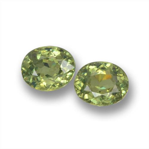 Golden Green Demantoid Garnet Gem - 0.4ct Oval Facet (ID: 458551)