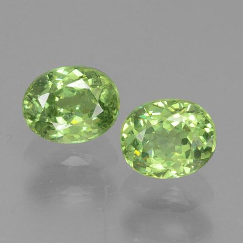 Golden Green Demantoid Garnet Gem - 0.4ct Oval Facet (ID: 458632)
