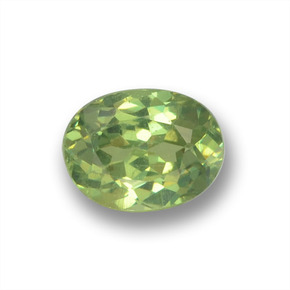 Medium Green Demantoid Garnet Gem - 0.5ct Oval Facet (ID: 458638)