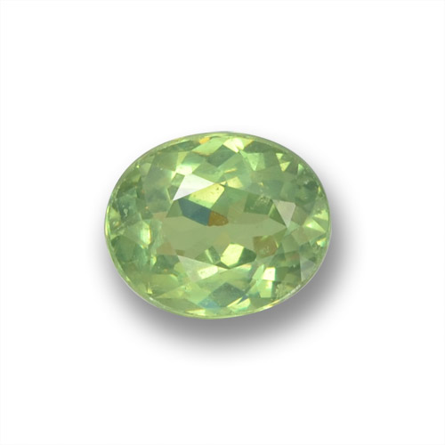 Forest Green Demantoid Garnet Gem - 0.5ct Oval Facet (ID: 458641)