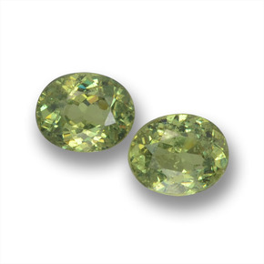 Olive Green Demantoid Garnet Gem - 0.4ct Oval Facet (ID: 458750)