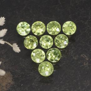 thumb image of 0.2ct Diamond-Cut Golden Green Demantoid Garnet (ID: 468825)