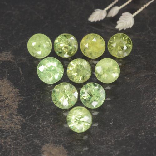 Golden Green Demantoid Garnet Gem - 0.2ct Diamond-Cut (ID: 468826)