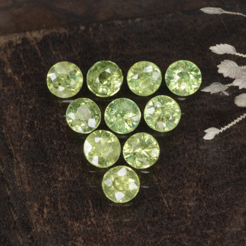thumb image of 0.2ct Diamond-Cut Golden Green Demantoid Garnet (ID: 468832)