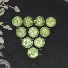 0.2ct Diamond-Cut Golden Green Demantoid Garnet Gem (ID: 468835)