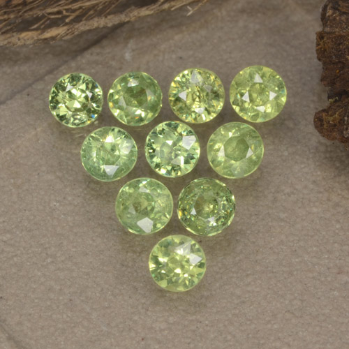 thumb image of 0.1ct Diamond-Cut Golden Green Demantoid Garnet (ID: 468975)