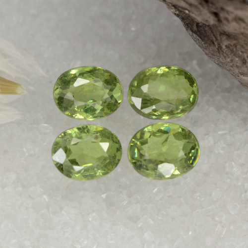 Green Demantoid Garnet Gem - 0.4ct Oval Facet (ID: 471660)