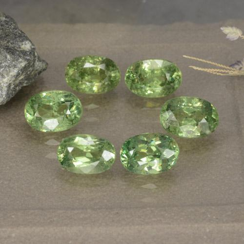 thumb image of 4.4ct Oval Facet Golden Green Demantoid Garnet (ID: 478452)