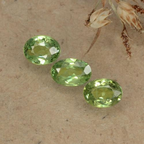 Warm Green Granate Demantoide Gema - 0.2ct Forma ovalada (ID: 479363)