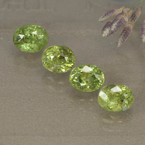 Light Lively Green Granate Demantoide Gema - 0.7ct Forma ovalada (ID: 498898)