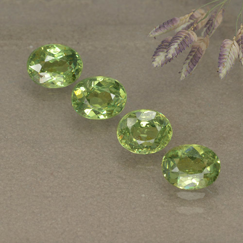 Verde bosque Granate Demantoide Gema - 0.5ct Forma ovalada (ID: 498899)