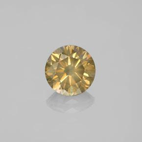 Cognac Diamond Gem - 1.5ct Diamond-Cut (ID: 378642)